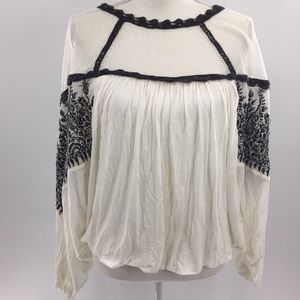 Free people balloon sleeve blouse